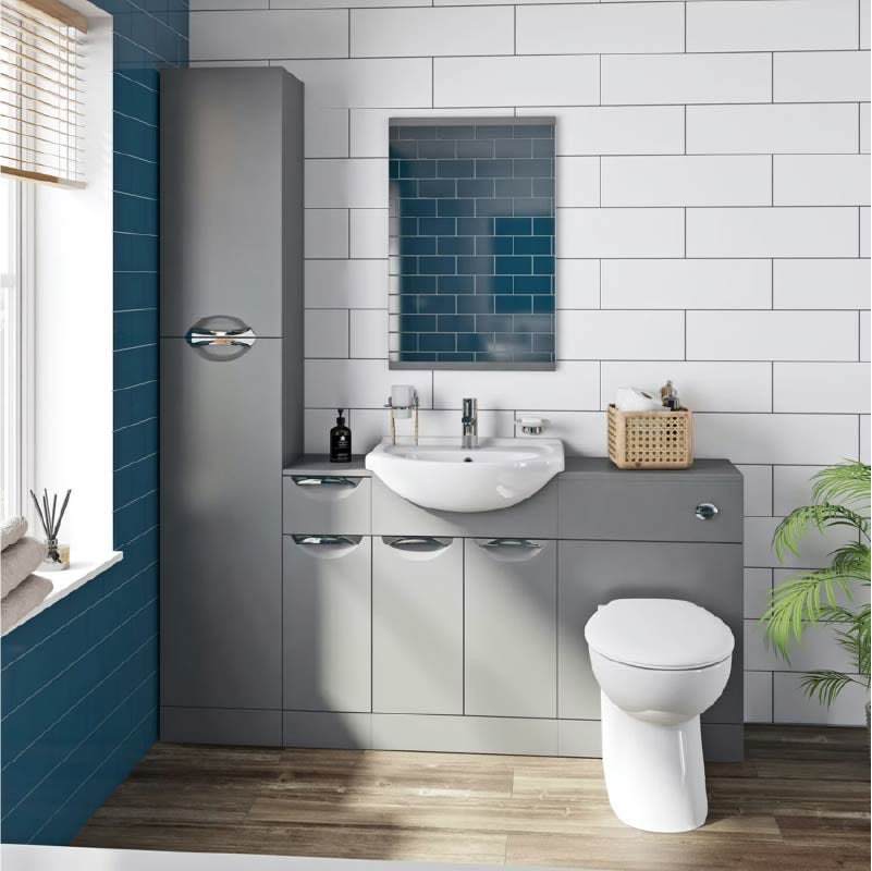 Elsdon stone grey bathroom furniture