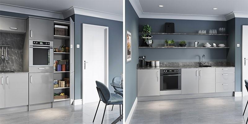 Schön Boston light grey kitchen cabinet range
