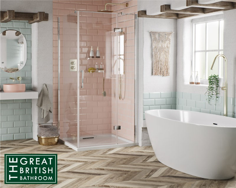 Get the Look: A Touch of Blush bathroom ideas