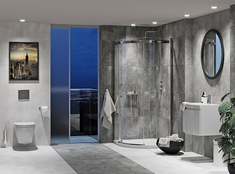 Harrison complete wall hung suite with taps, shower and wastes