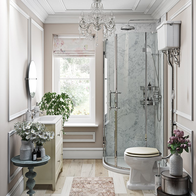 French Floral ensuite