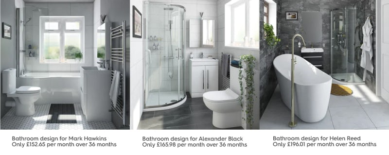 Customer bathroom design and installation costs