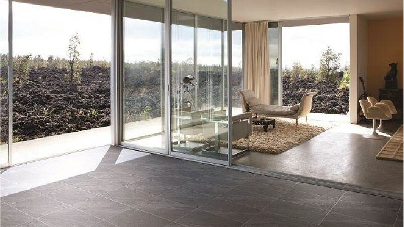 Alicura charcoal stone effect anti-slip matt wall and floor tile