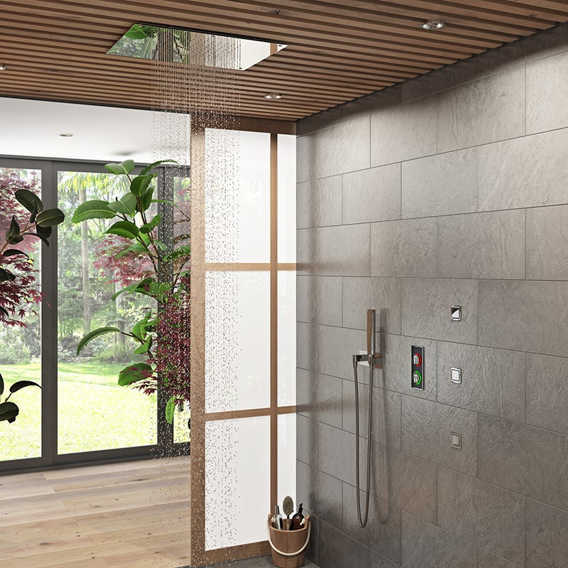 Ando square recessed stainless steel shower head