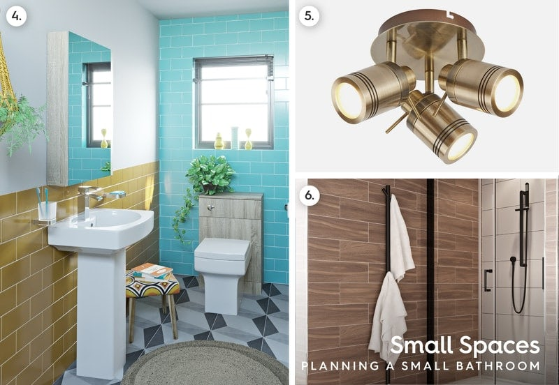 Accessories for a small bathroom