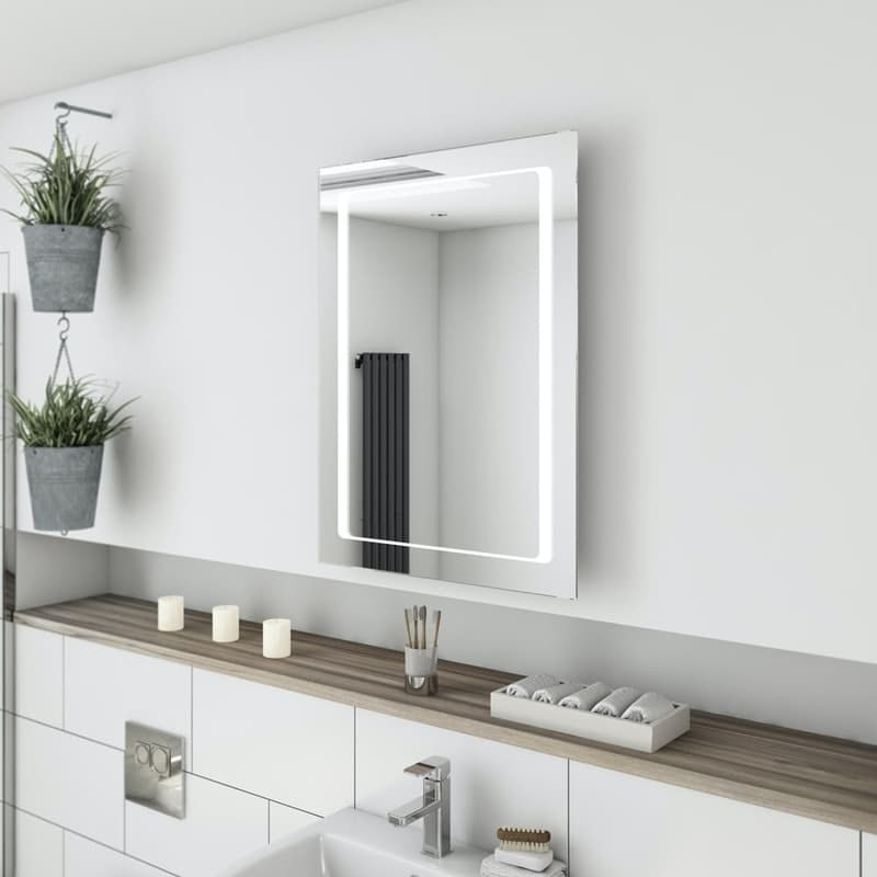 Mode Shine Bluetooth LED illuminated mirror 800 x 600mm with demister