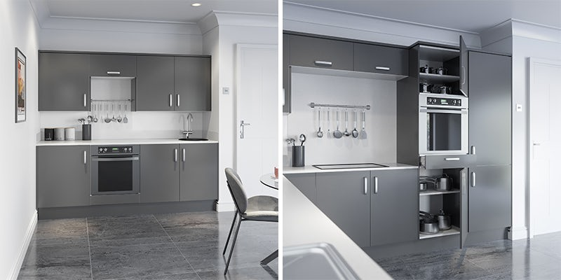 Schön Boston mid grey kitchen cabinet range