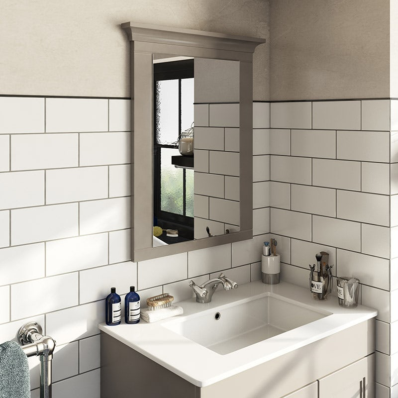 Winchester graphite grey bathroom mirror