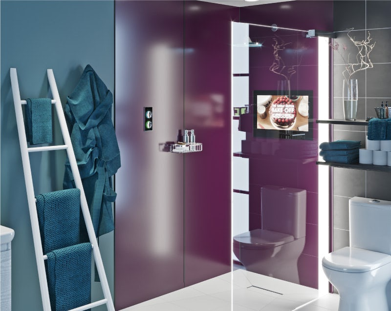 Power-Up shower enclosure
