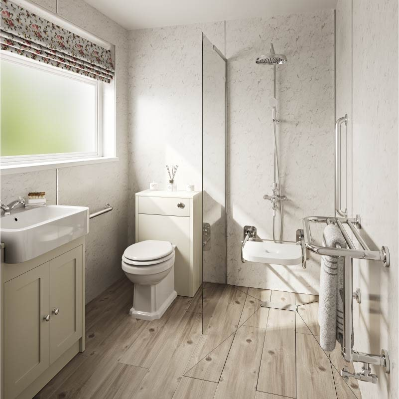Traditional accessible bathroom ideas