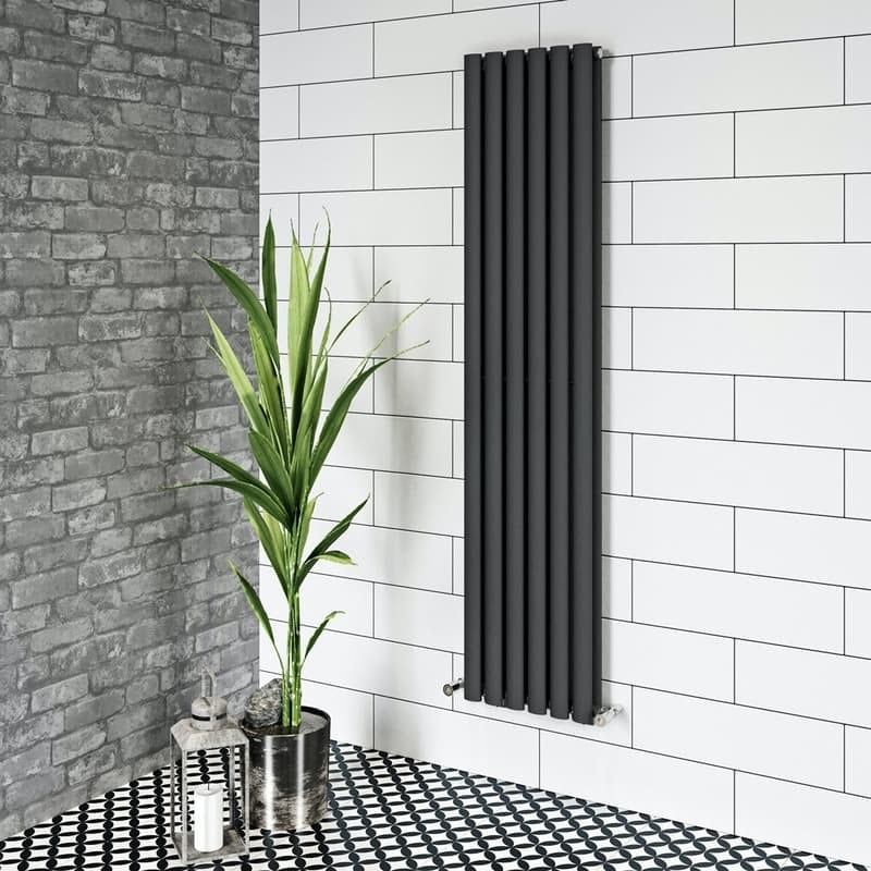 The Heating Co. Salvador anthracite grey single vertical radiator