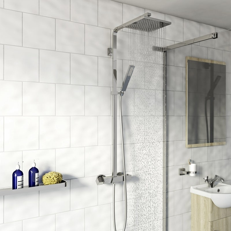 Orchard Wye thermostatic square shower system