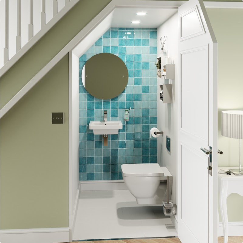 Warm and welcoming contemporary cloakroom—after