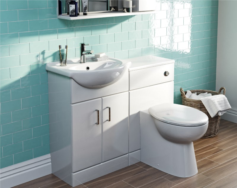 Your finished combination toilet and sink unit