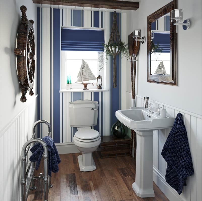 The Harbour nautical style cloakroom