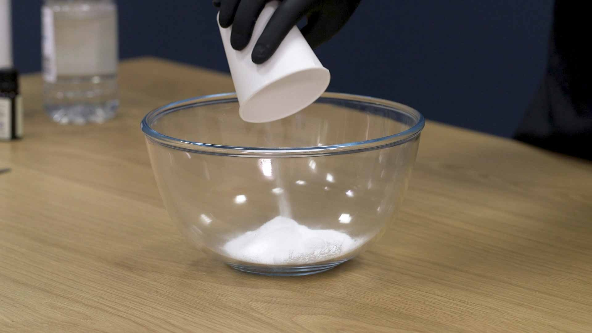 Adding baking soda