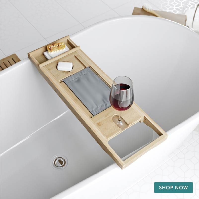 Accents Bamboo adjustable bath caddy