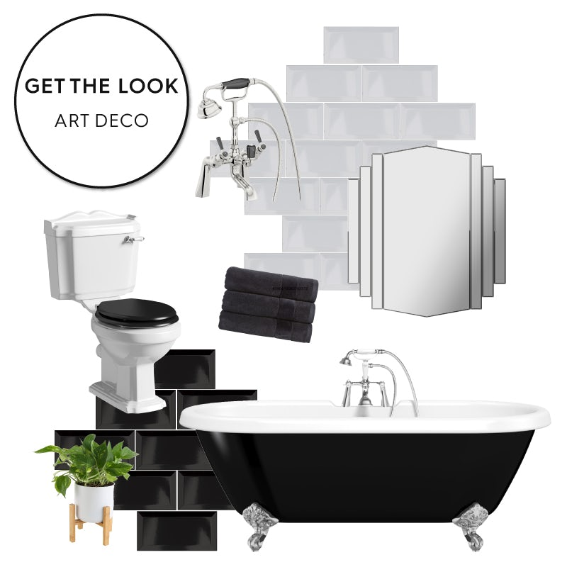 Art Deco bathroom ideas mood board