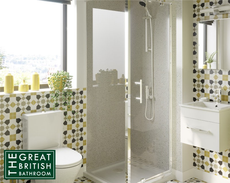 Orchard 6mm pivot hinged square shower enclosure