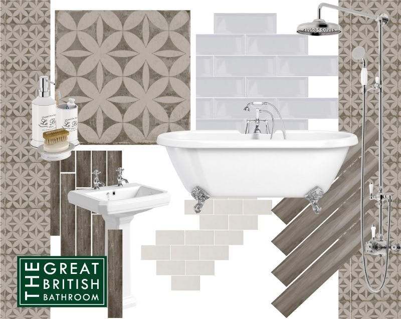 Aragon geo grey matt wall and floor tiles 200mm x 200mm