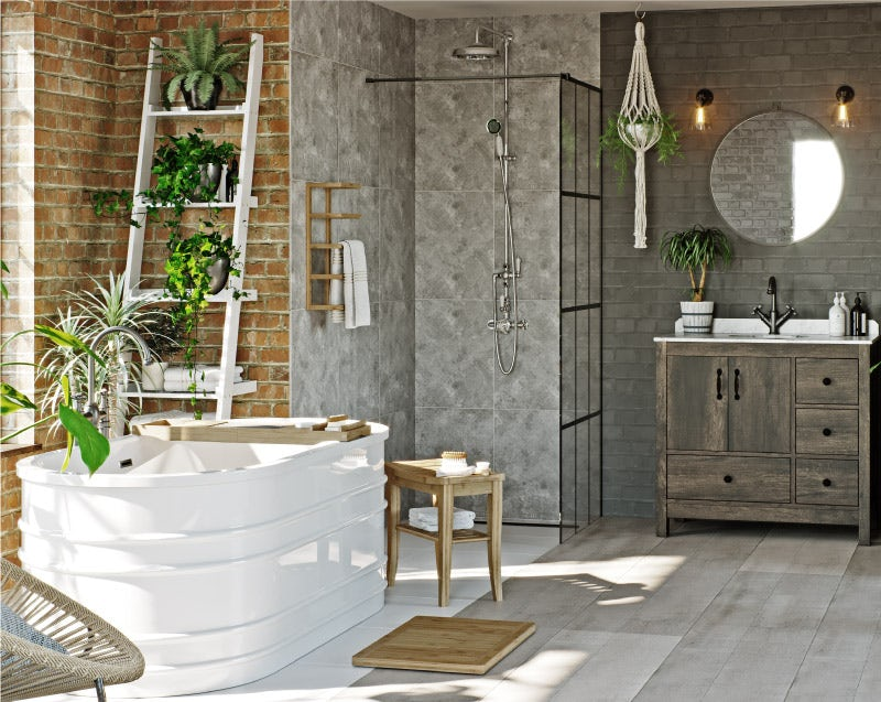 Tropical bathroom ideas for the urban jungle