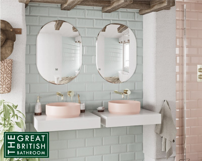 A Touch of Blush basins