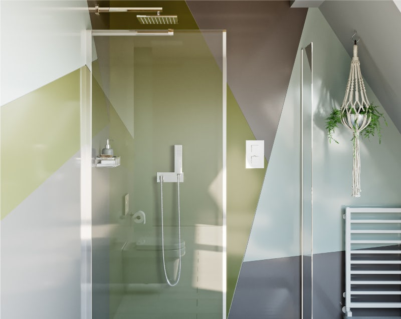 Colourful Creative shower area