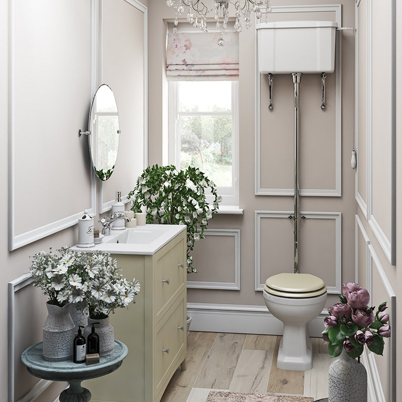 French Floral cloakroom