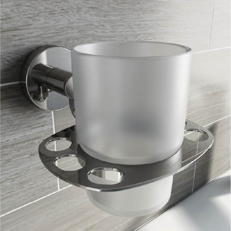 Accents Lunar tumbler and toothbrush holder