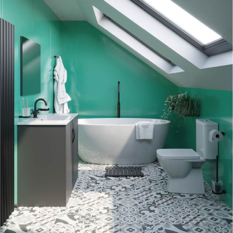 Choose the perfect colours for your family bathroom