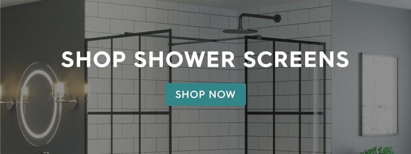 Shop black framed shower screens