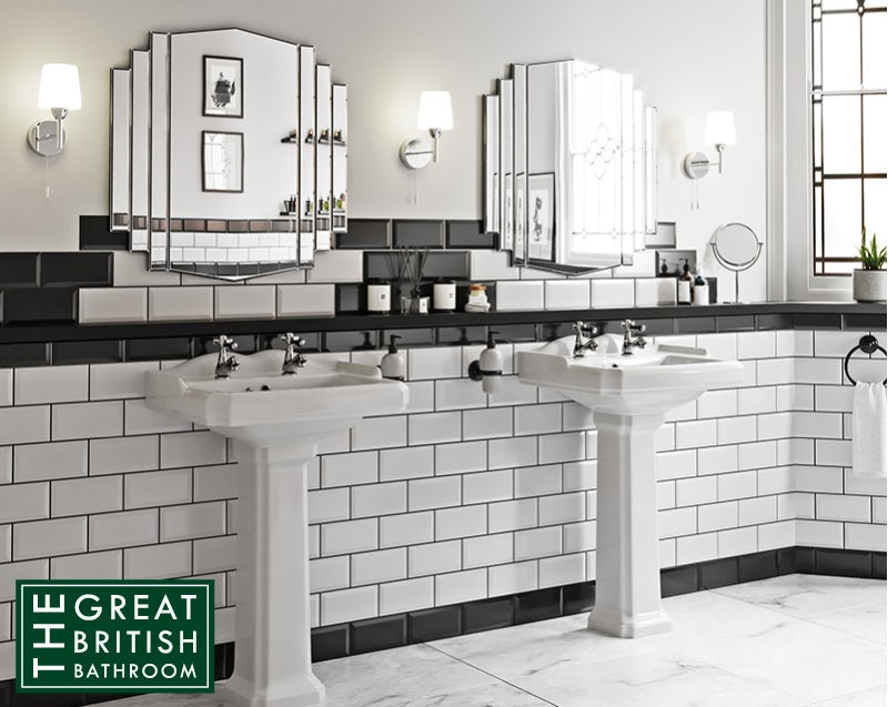 Art Deco mirrors and basins