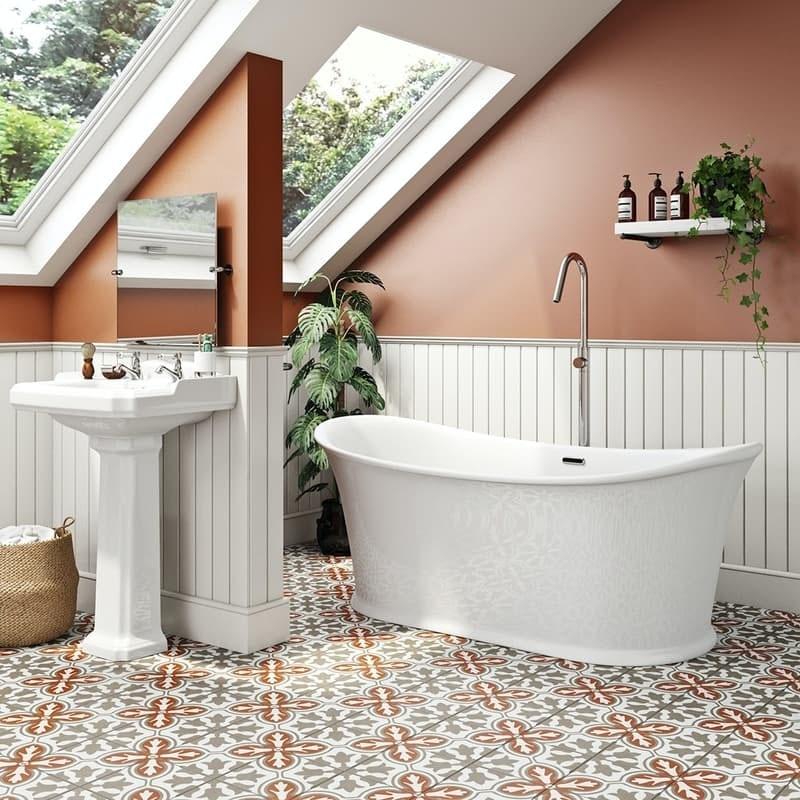 The Bath Co. Chartham traditional double ended slipper bath 1675 x 865
