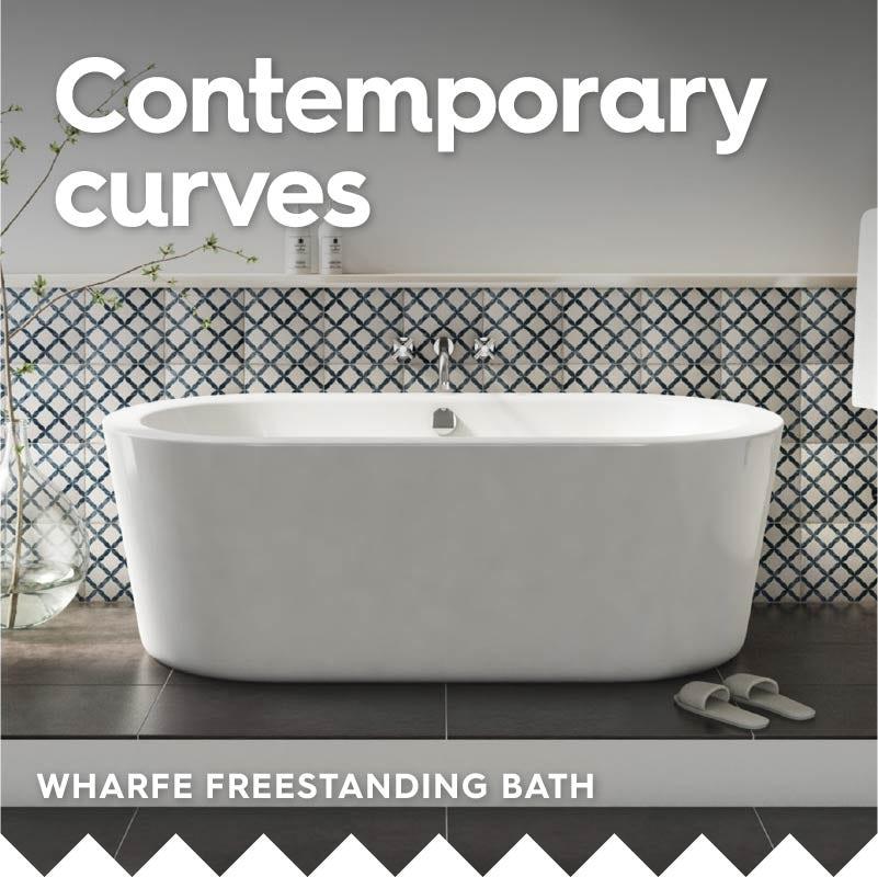 Wharfe freestanding bath