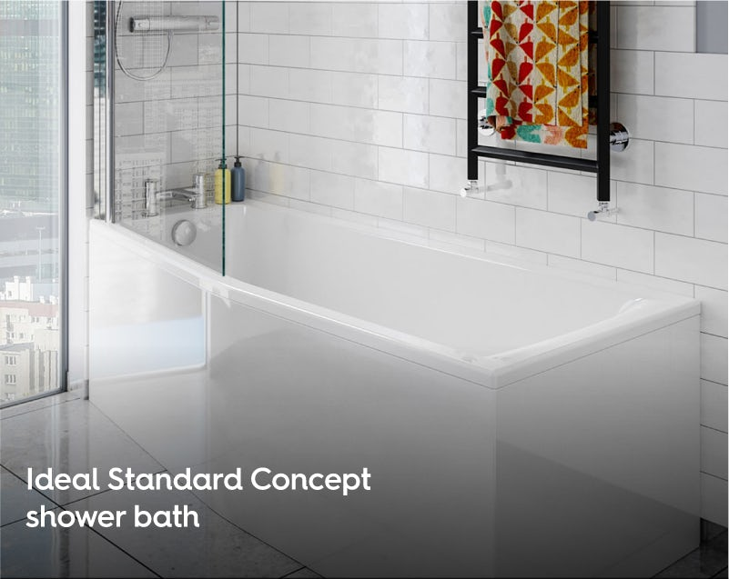 Ideal Standard Concept Space left handed shower bath 1700 x 700