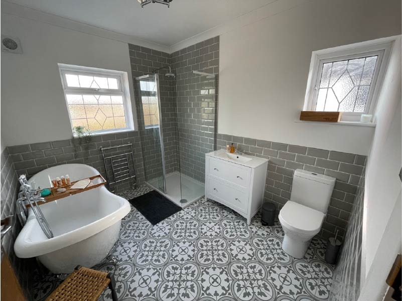 Holly's completed bathroom