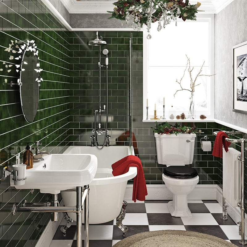 Festive Christmas bathroom