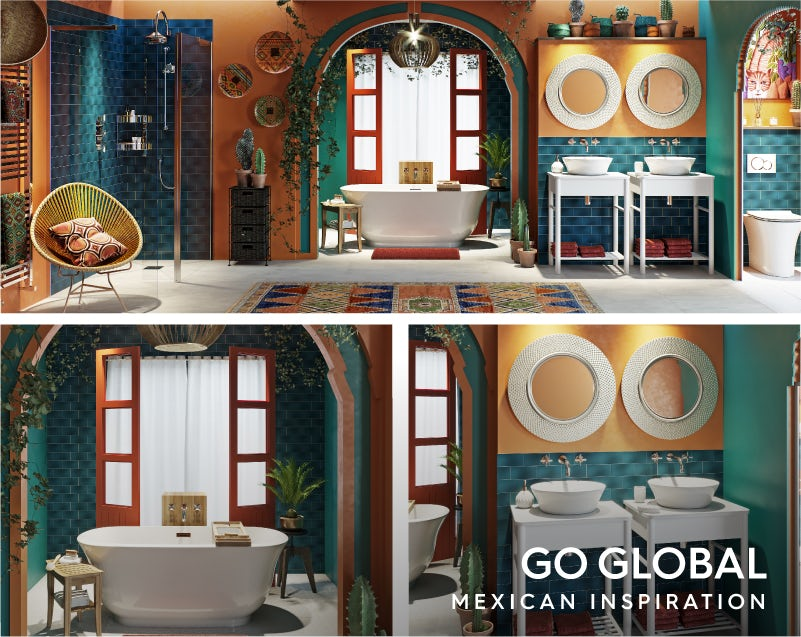Get the look: Go Global—Mexican influence bathroom