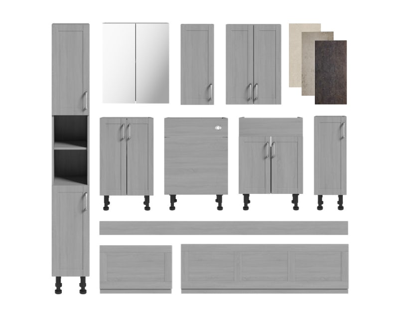 Nouvel gloss grey fitted furniture
