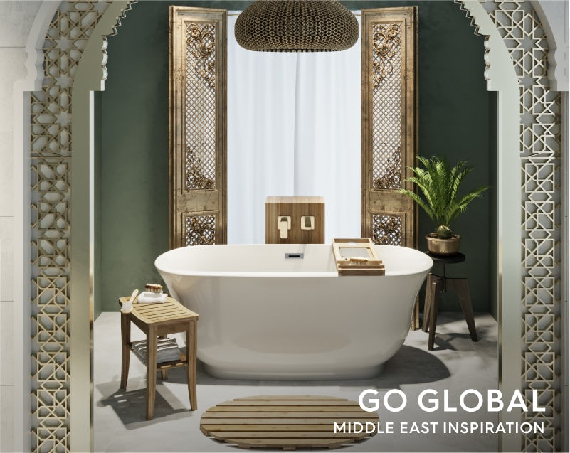 Get the look: Go Global—Middle East bathroom bath
