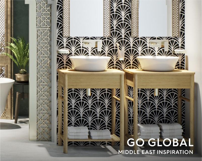 Get the look: Go Global—Middle East bathroom basin