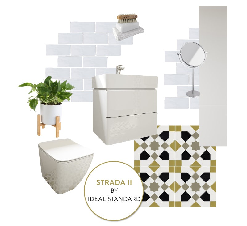 Ideal Standard Strada II cloakroom mood board