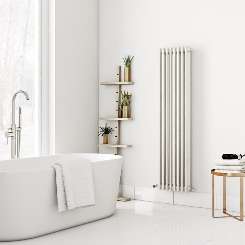 The Heating Co. Dulwich vertical white triple column radiator