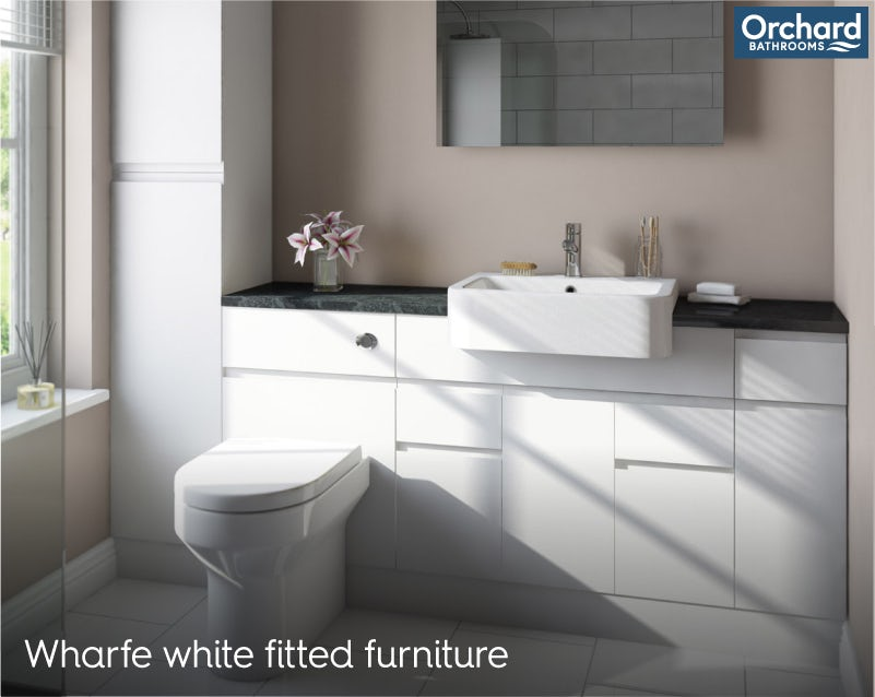 Wharfe white fitted furniture room