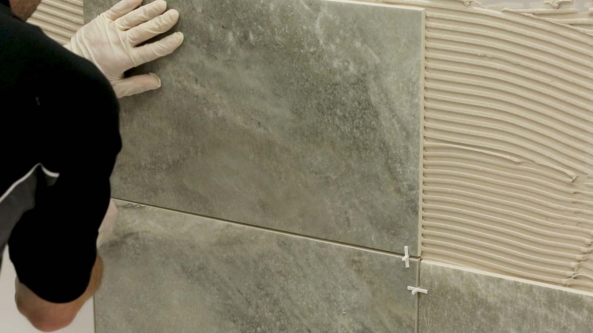 Repeat separating tiles using a spacer