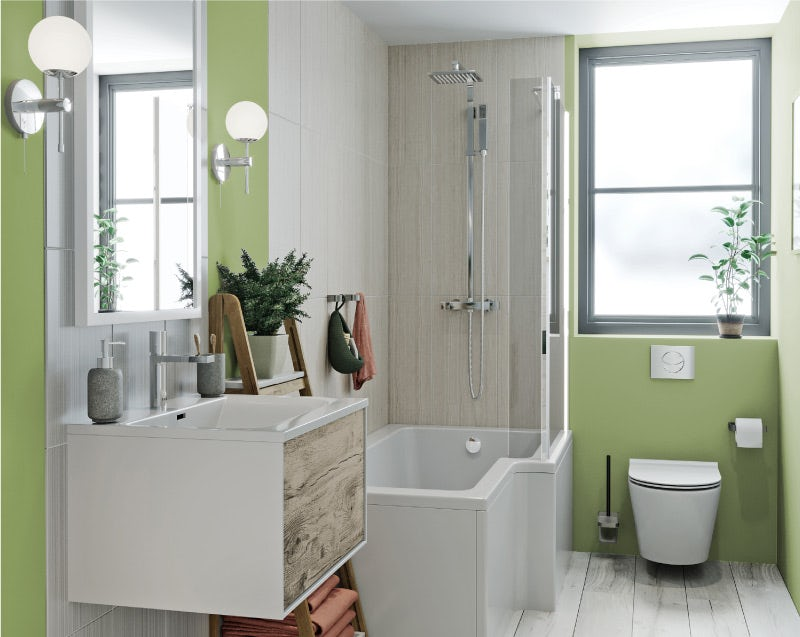 Spring green bathroom colour ideas