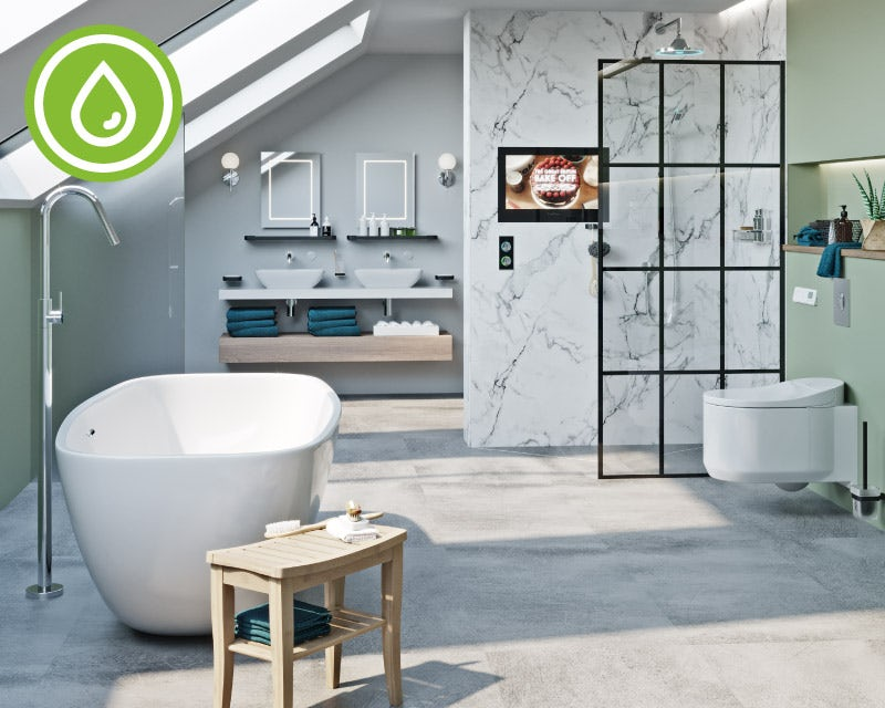 Water-saving bathroom product