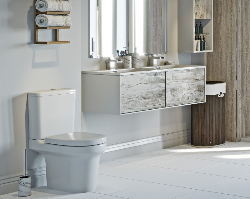 Natural Elements neutral bathroom furniture