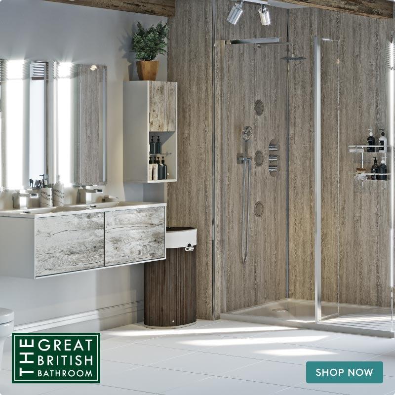 Natural Elements neutral bathroom light wood