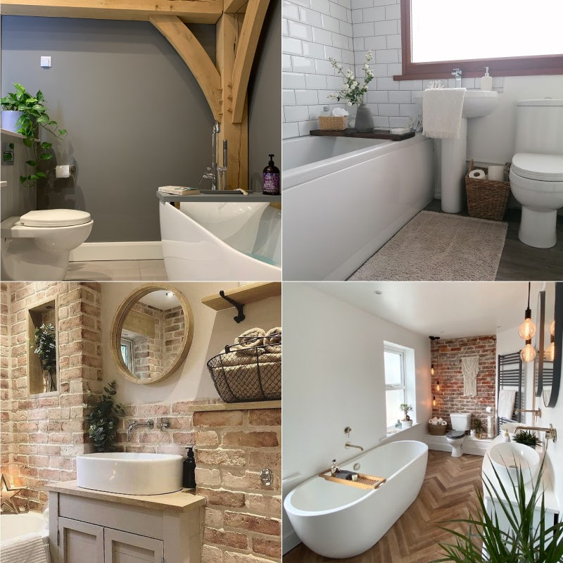 Examples of rustic bathroom interiors